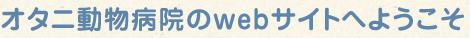 オタニ動物病院のwebサイトへようこそ