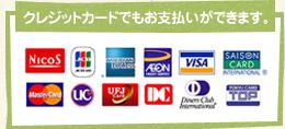 クレジットカードでもお支払いができます。